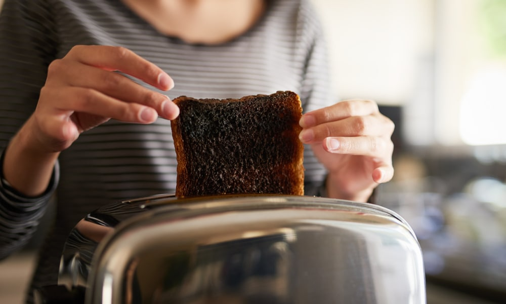 "<b>EATING BURNT TOAST</b>  <p> Love using the highest setting on the toaster to get a crispy, slightly burnt bit of toast? It might taste great, but evidence suggests it increases your risk of cancer. Last year Brits were officially warned that burning starchy foods such as spuds, bread and pizza dough may increase the risks of developing the disease. The Food Standards Agency said carbs should only be cooked until ""golden"" and in accordance with the instructions on any packaging. That's because burning these foods creates a chemical called acrylamide, which has been linked to cancer. A chemical reaction causes the toxic chemical to form when sugars and proteins in starchy foods are cooked at high temperatures, above 120C. But you'd have to be eating an incredible amount of burnt carbs for your risk of disease to be something to worry about.</p>  <p><i>Image: iStock</i></p>"