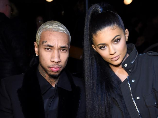 Couple ... Tyga and Kylie Jenner in New York. Picture: Jamie McCarthy/Getty Images/AFP