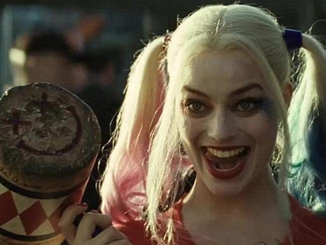Robbie as Harley Quinn in Suicide Squad, in which supervillains complete tasks for shorter jail terms.