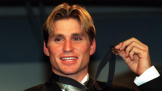 Shane Crawford won the 1999 Brownlow Medal. Picture: Chris Pavlich