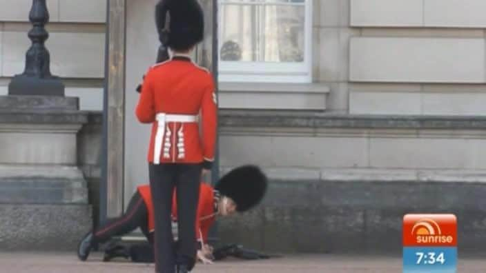 Embarrassing Royal Guard slip up