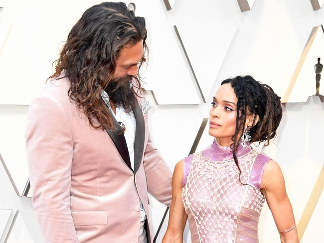 Jason Momoa and Lisa Bonet honoured Karl Lagerfeld. Picture: Getty Images