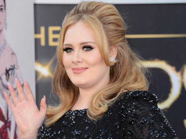 Singer Adele arrives at the Oscars in 2013. Picture: Jason Merritt/Getty Images