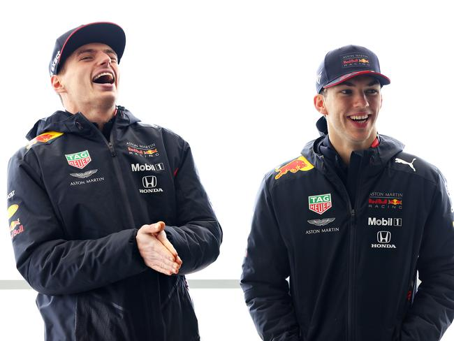 Max Verstappen doesn't care who he's standing next to.