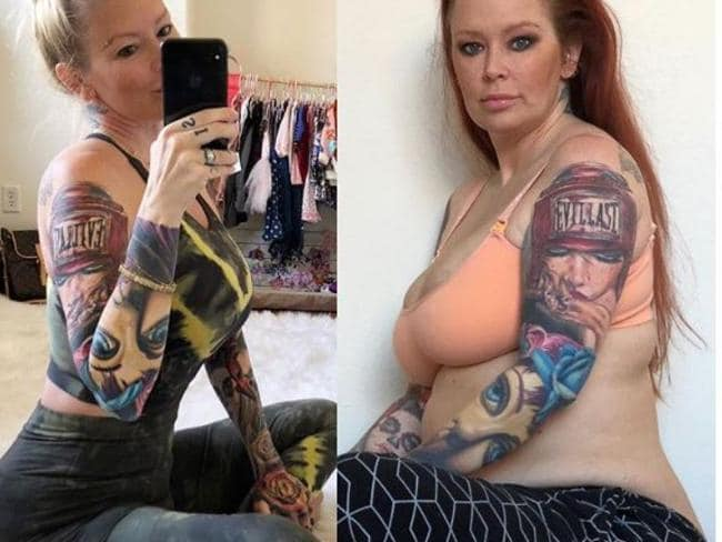 Jenna Jameson showed off her incredible body transformation after giving birth to daughter Batel Lu. Picture: Instagram