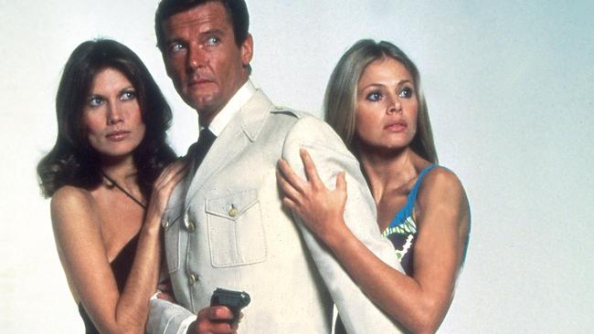 Roger Moore as James Bond in The Man with the Golden Gun.