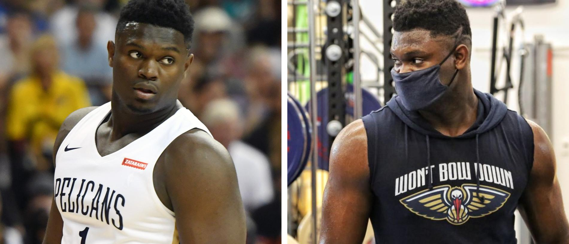 Zion Williamson has been putting in work during the mid-season break