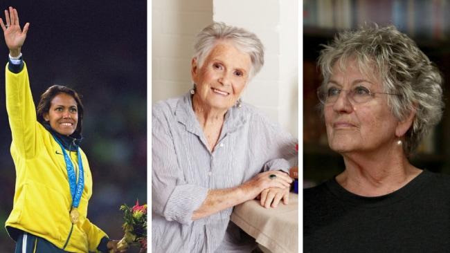 Australian treasures Cathy Freeman, Margaret Fulton and Germaine Greer. Photo: News Corp Australia