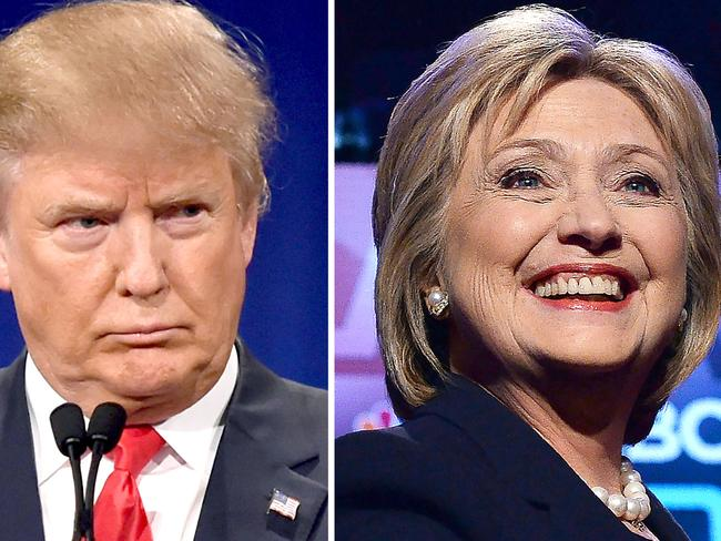 Republican presidential hopeful Donald Trump and his Democratic rival Hillary Clinton are expected to battle it out in November. Picture: AFP