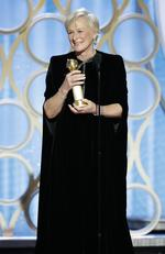 Glenn Close from The Wife accepts the Best Actress in a Motion Picture Drama award onstage during the 76th Annual Golden Globe Awards on January 6, 2019. Picture: Getty
