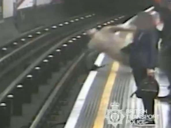 Crossley attacked two people within minutes. Picture: British Transport Police