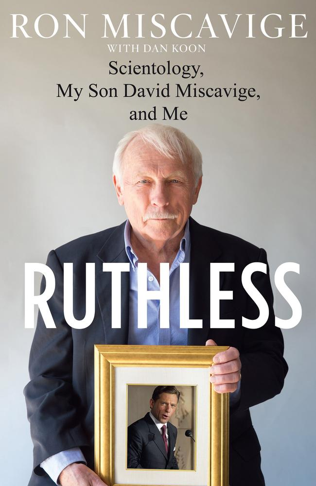 Ronald Miscavige Sr has written a book on his son, David.