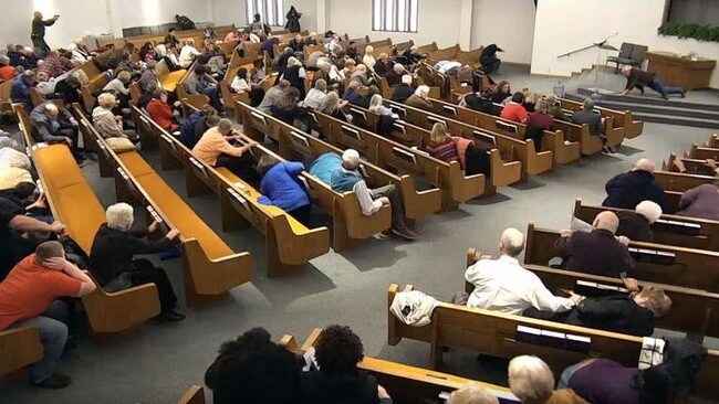 The church service was being live streamed when the shooting unfolded.