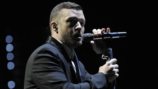 Timberlake performing in Brisbane in 2014. Picture: Claudia Baxter