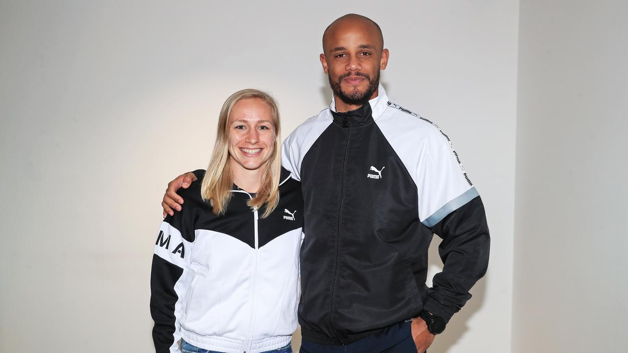 Pauline Bremer (MCFC women s player)   Vincent Kompany (MCFC men s captain) 79cc70f94