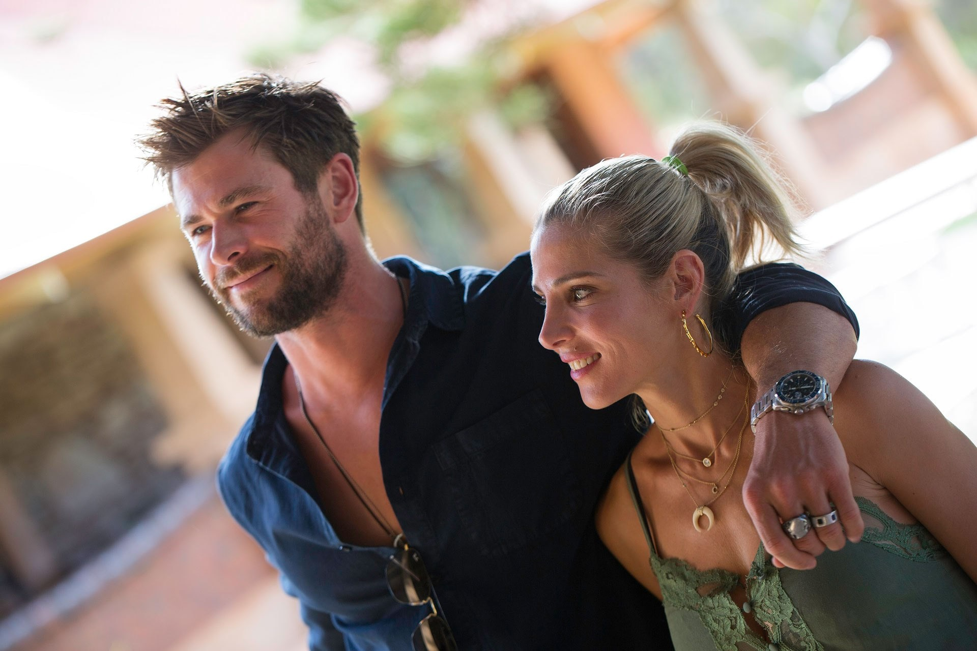 Chris Hemsworth and Elsa Pataky at the Jacob's Creek estate in the Barossa Valley