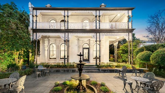 The heritage mansion is a landmark in Prahran.