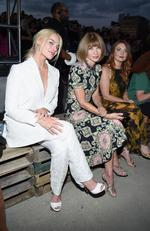 Aussie gal ... Margot Robbie and Anna Wintour attend the Givenchy fashion show during New York Fashion Week. Picture: Getty