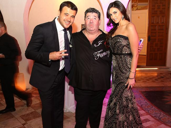 Trump's odd relationship and dealings with pop star Emin Agalarov and his manager Rob Goldstone (pictured here with Emin's sister Sheila Agalarova) are now the subject of investigations in Washington. Picture: Aaron Davidson/Getty Images for Irina Agalarov