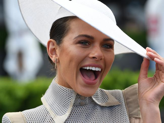 The VS model was trackside for the Melbourne Racing Club. Picture: AAP