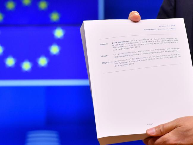 The draft agreement of the withdrawal of the United Kingdom of Great Britain and Northern Ireland from the European Union - whether or not it is adopted will determine if the UK crashes out of the EU with no deal.