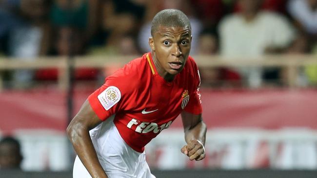 Monaco's French forward Kylian Mbappe.