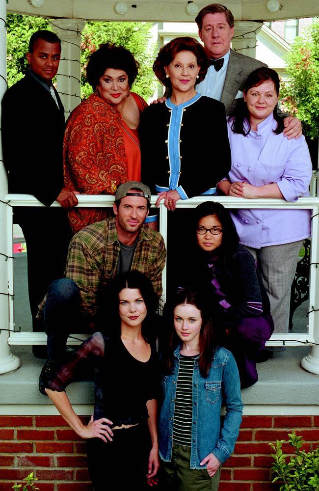 The cast of beloved TV series Gilmore Girls.