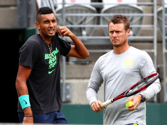 Nick Kyrgios said 'sure' when asked if he supported Hewitt.