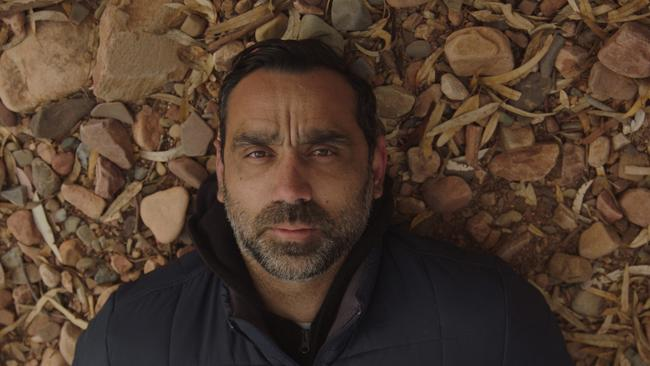Adam Goodes in The Australian Dream documentary.