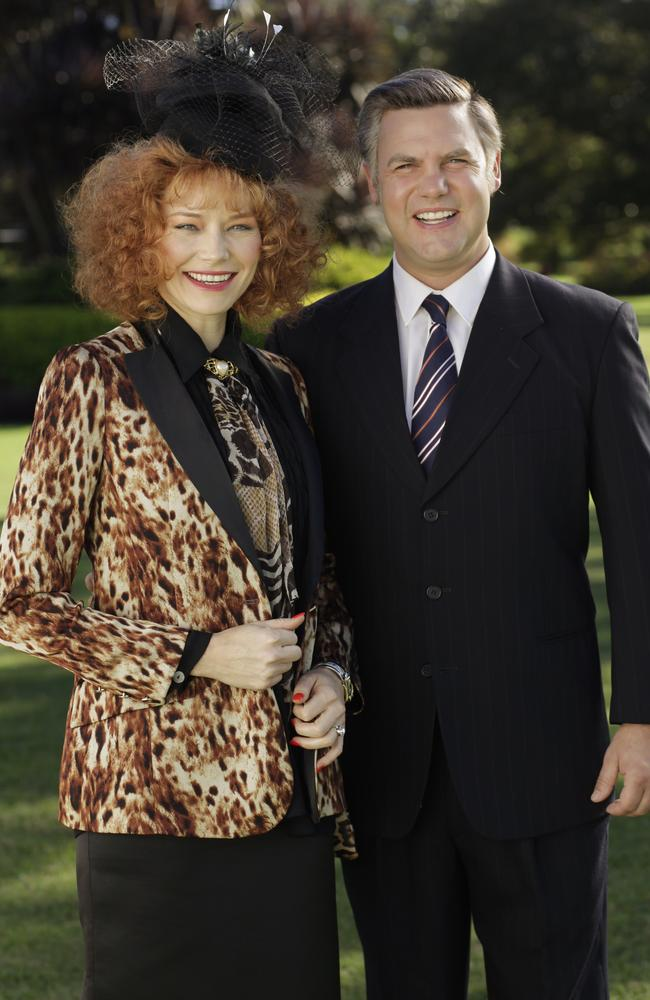 Adrienne Pickering as Eileen Bond stands by her man despite his troubles. Picture: Channel 9