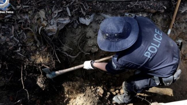 Police began a new dig at Bayview in September. Picture: NSW Police Source:News Corp Australia