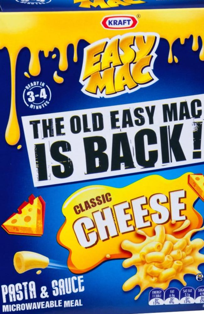 Kraft realised the error of their ways and reverted back to the original Easy Mac recipe.