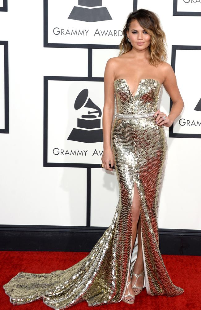 Chrissy's 2014 dress was to die for. Picture: Jason Merritt/Getty Images