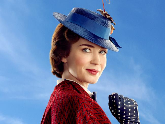 Mary Poppins, played by Emily Blunt.