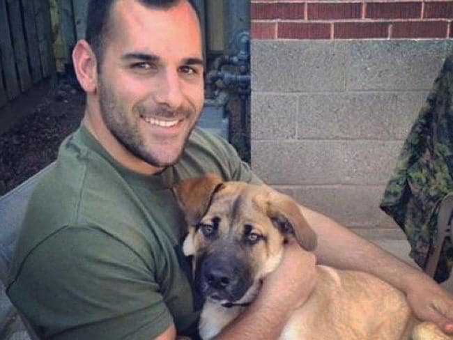 Gunned down ... Nathan Cirillo's Instagram feed includes dozens of photos with his dogs.