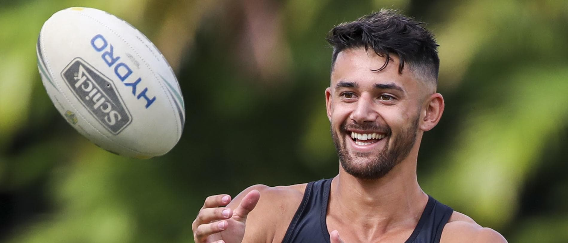 New recruit Jesse Arthars is seen during a Brisbane Broncos NRL training session at the Broncos Leagues Club in Brisbane, Friday, January 17, 2020. (AAP Image/Glenn Hunt) NO ARCHIVING