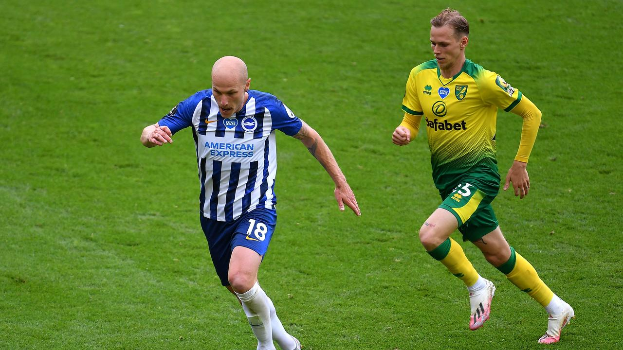 Aaron Mooy was in fine touch for Brighton as it pushed Norwich further towards relegation.