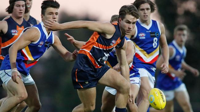 Rhylee West of the Calder Cannons starred against the Eastern Ranges.