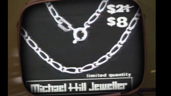 """Gold gold silver silver chain chain sale sale"" became a bona fide catchphrase. Picture: Supplied"