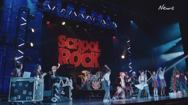 School of Rock The Musical Christmas campaign