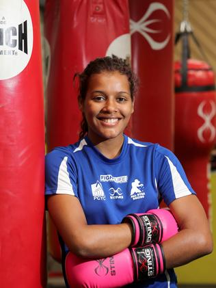 Leah Fraser was among 15 boxers from the Pine Rivers PCYC to win gold at the State Championships. Picture: Chris Higgins