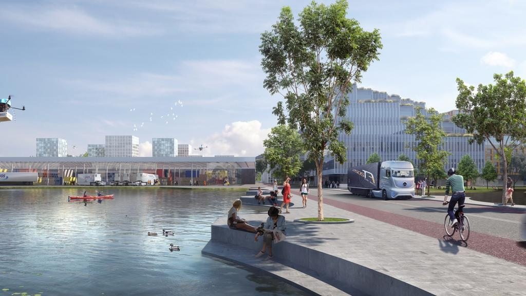 Artist image of Northern Gateway City, where the medical and wellness centre will be located.