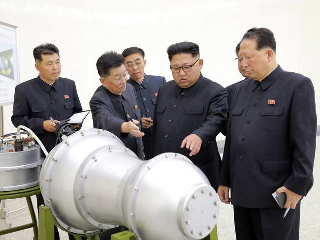 A summary of the experts report obtained in early August by The Associated Press said North Korea has not stopped its nuclear and missile programs. Picture: AP