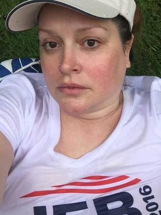 Wearing a 'Jeb 2016' shirt.
