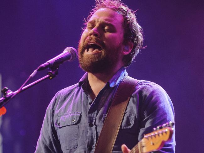 Scott Hutchison, frontman singer of Scottish rock band Frightened Rabbit, in 2012. Picture: AP