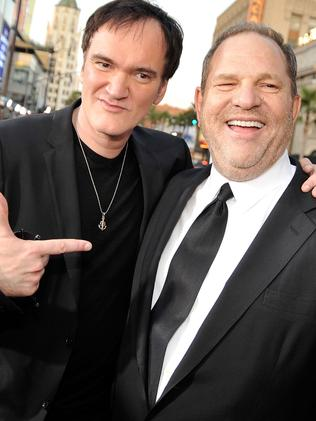 Quentin Tarantino (l) and Harvey Weinstein. Picture: AFP