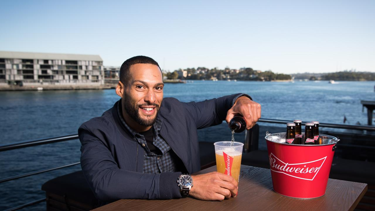 Former AFL footballer Josh Gibson during the Budweiser World Cup Sponsorship Launch.