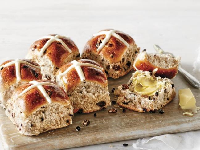 Coles Traditional hot cross buns. Picture: Supplied/Coles