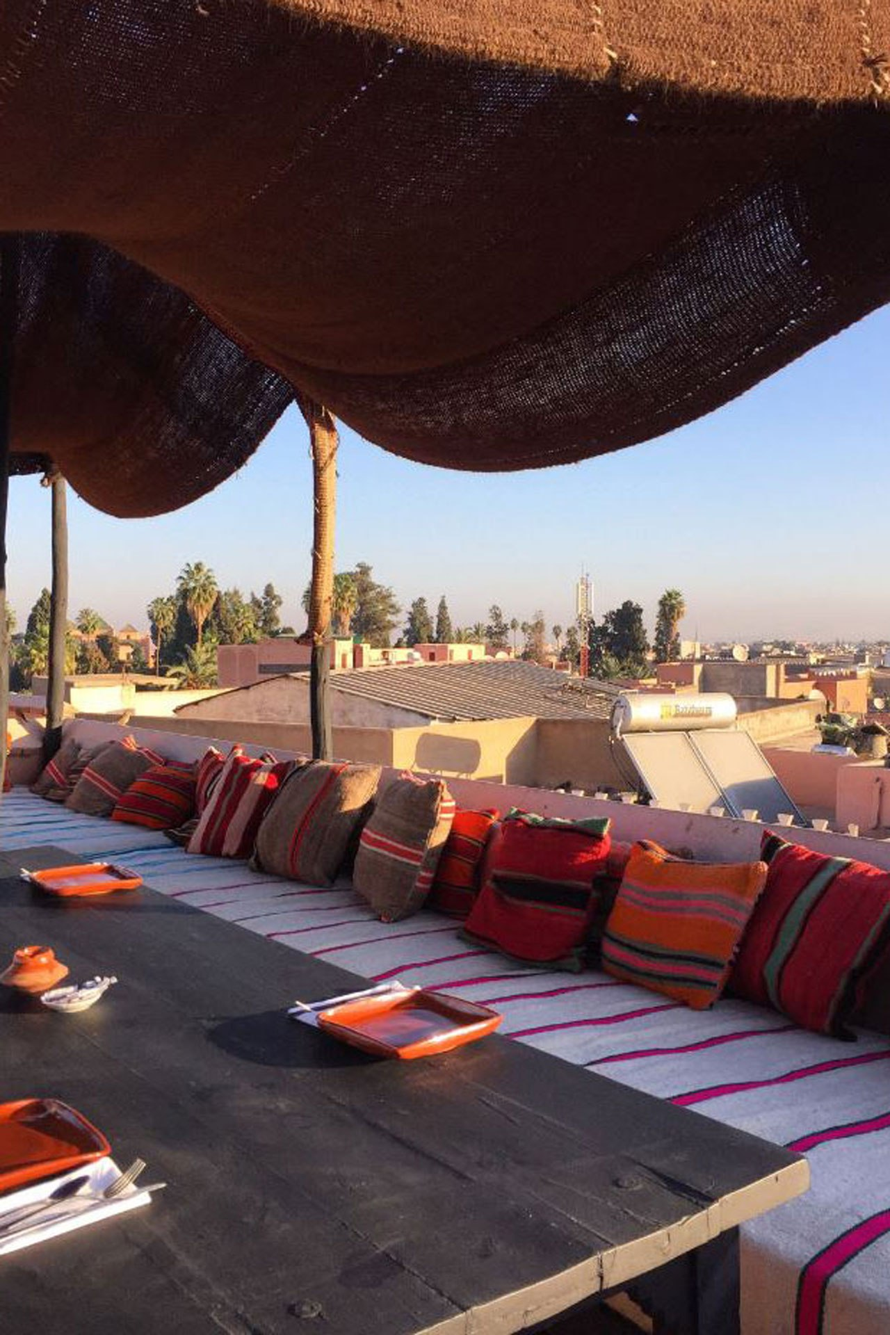 One of the many rooftops throughout Marrakech