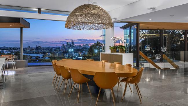 The incredible city views from the dining area.